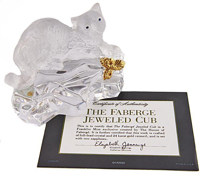 Статуэтка Леопард. Хрусталь, золочение. Франция, House of Faberge, 1980-е гг. faberge