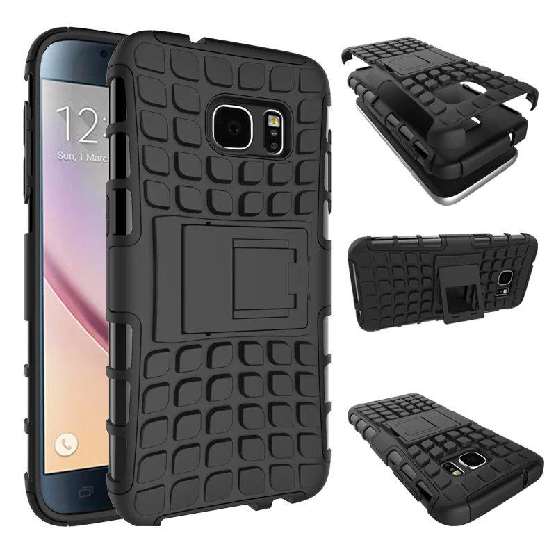 Чехол MyPads для Samsung Galaxy S6 Противоударный усиленный ударопрочный черный