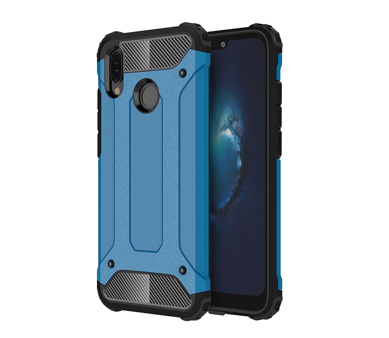 Чехол MyPads для Huawei Honor 6X Противоударный усиленный ударопрочный синий