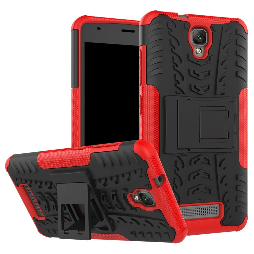 Чехол MyPads для ZTE Blade L5 Plus Противоударный усиленный ударопрочный красный