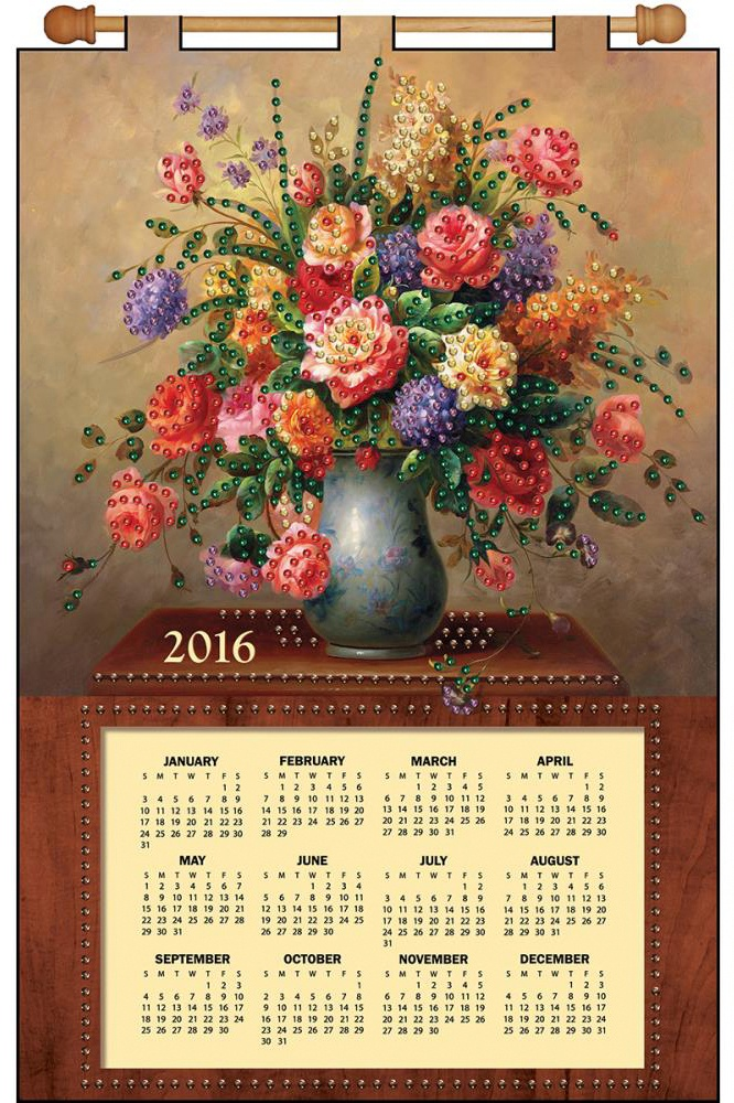 "Набор для творчества Design Works ""Floral vase"""