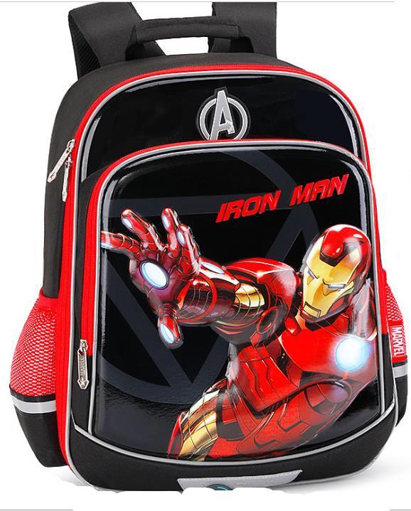 Рюкзак детский школьный Iron Man, Железный Человек, черный