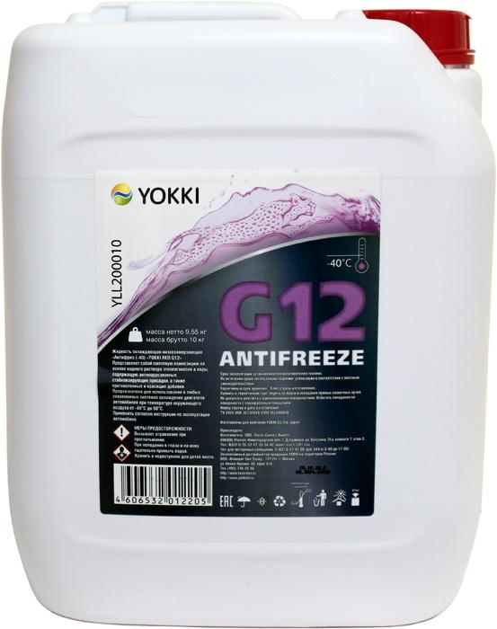 Антифриз -40 YOKKI RED G12, 10кг