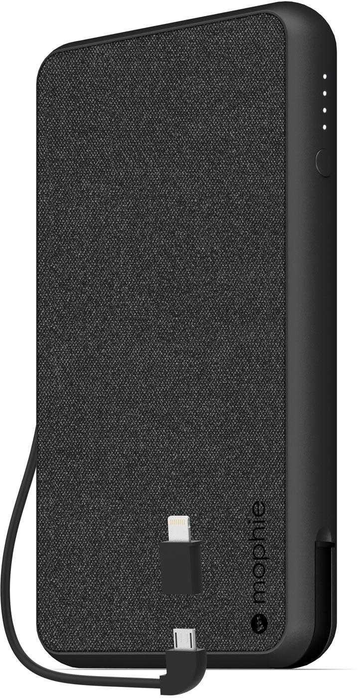 Портативный аккумулятор Mophie Powerstation Plus XL (Fabric) Lightning & Micro USB - Black10000 МаЧ цена и фото
