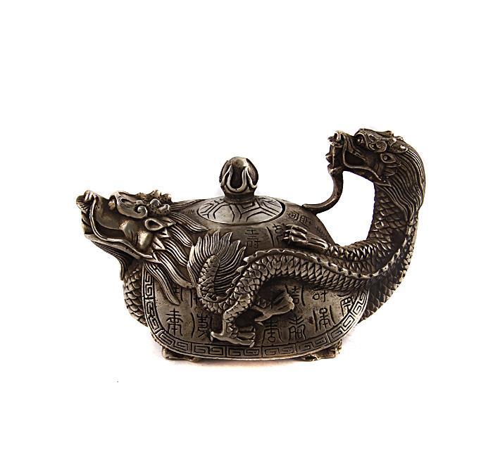 Декоративный чайник Драконочерепаха. Бронза, прочеканка. Китай, вторая половина XX века курительница слон в тибетском стиле бронза прочеканка китай вторая половина xx века