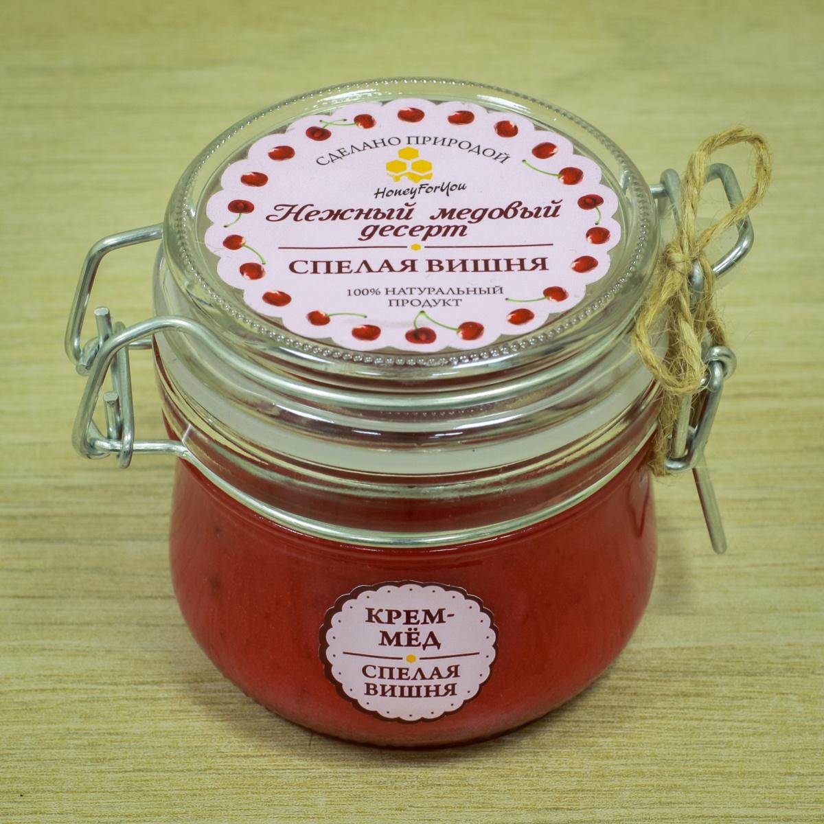 Нежный медовый десерт HoneyForYou Спелая вишня