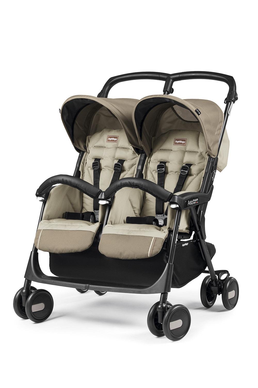 цены на Прогулочная коляска Peg-Perego Aria Shopper Twin Class Beige  в интернет-магазинах