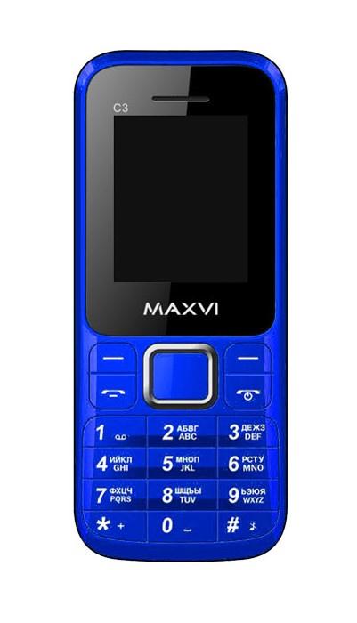 Мобильный телефон MAXVI C3 Blue цена