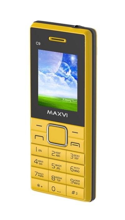 Мобильный телефон MAXVI C9 Yellow-black