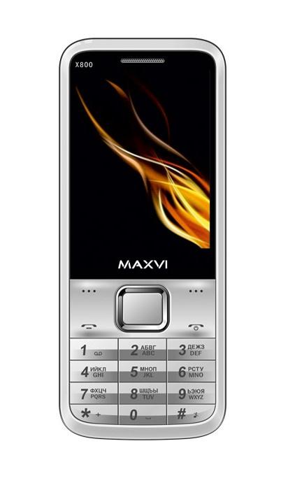 Мобильный телефон MAXVI X800 Silver