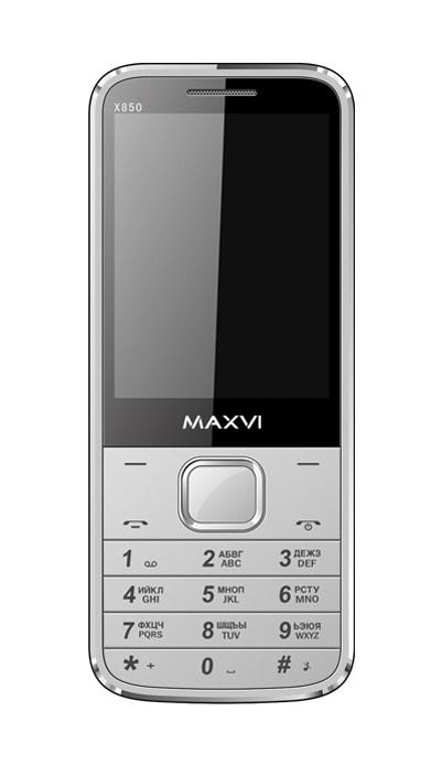 лучшая цена Мобильный телефон MAXVI X850 Silver