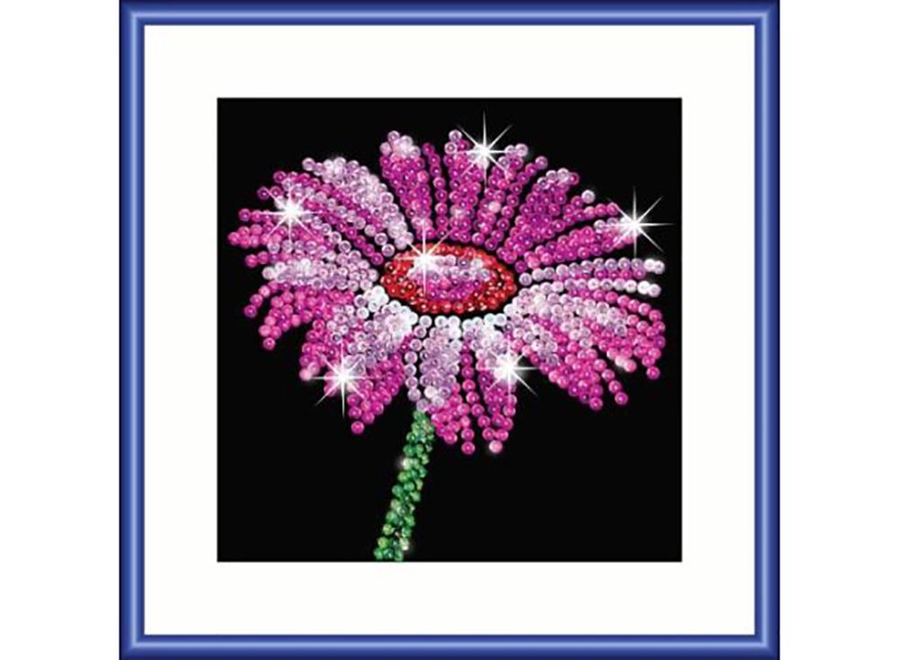 Мозаика из пайеток Цветок фокус мозаика из пайеток 3d утка в кор 6шт