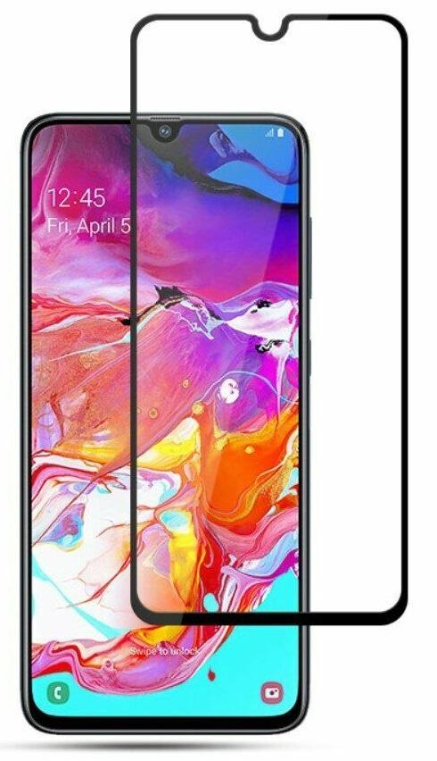 Защитное стекло Grand Full Glue для Samsung Galaxy A70, черный