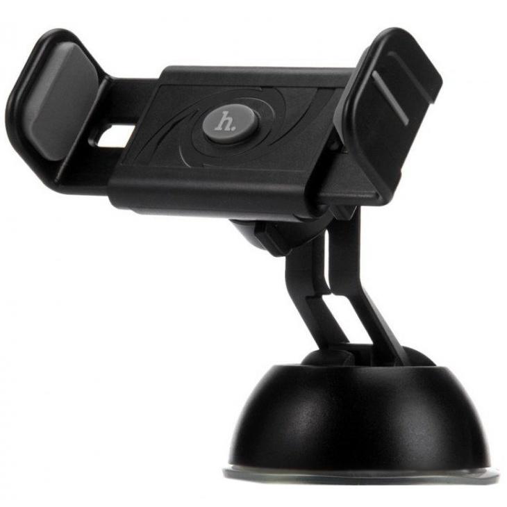 Автомобильный держатель для телефона на присоске Hoco CPH17 - Серый автомобильный держатель для телефона lp универсальный на присоске белый синий 04223