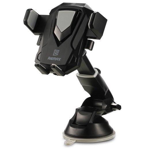Автомобильный держатель для телефона на присоске Remax RM-C26 - Черный автомобильный держатель для телефона lp универсальный на присоске белый синий 04223
