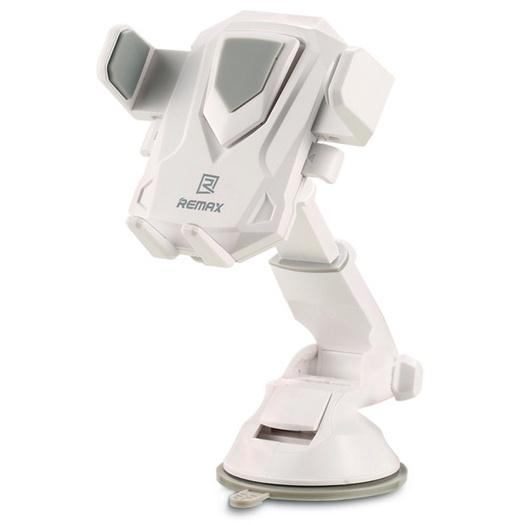 Автомобильный держатель для телефона на присоске Remax RM-C26 - Белый автомобильный держатель для телефона lp универсальный на присоске белый синий 04223