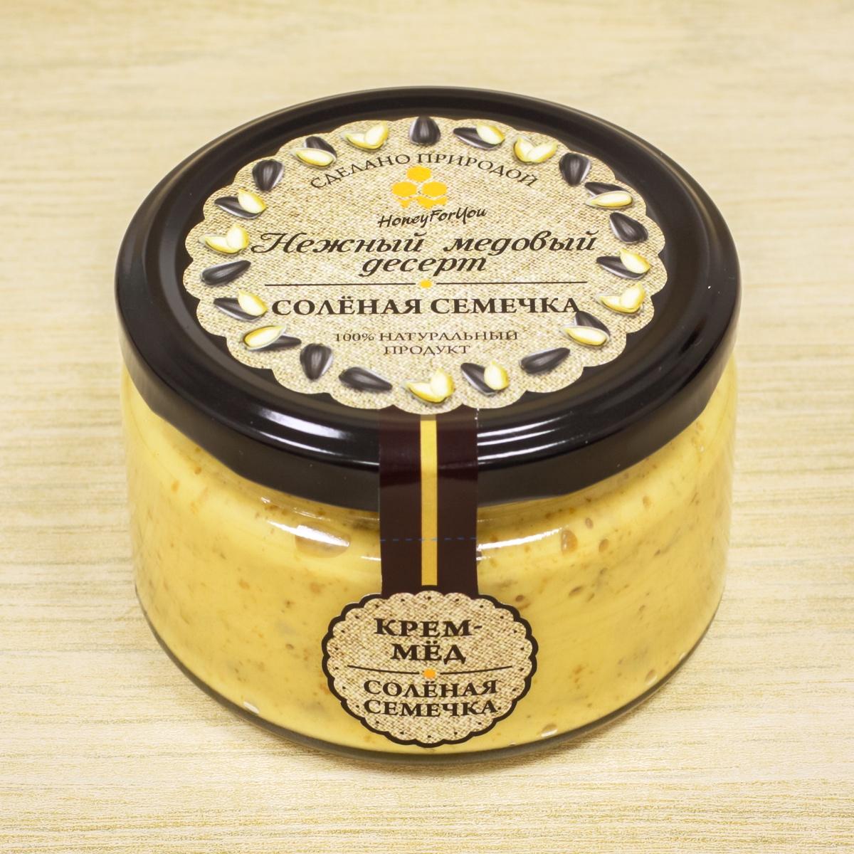 Нежный медовый десерт HoneyForYou Соленая семечка