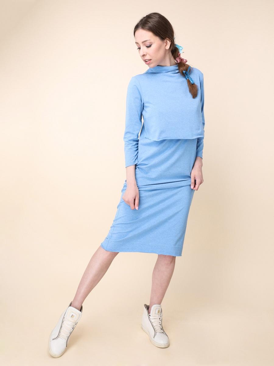 Платье МАМЫ В МОДЕ платья с высоким воротником