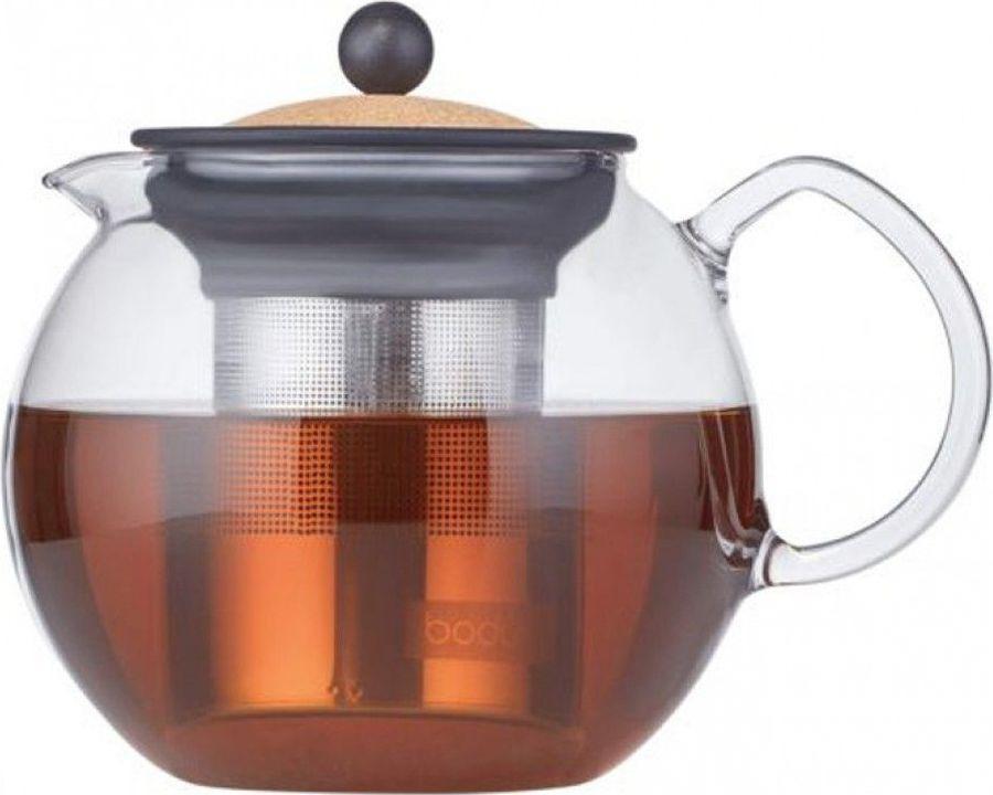 Чайник заварочный Bodum Assam, 1801-109S, прозрачный, 1 л цена и фото