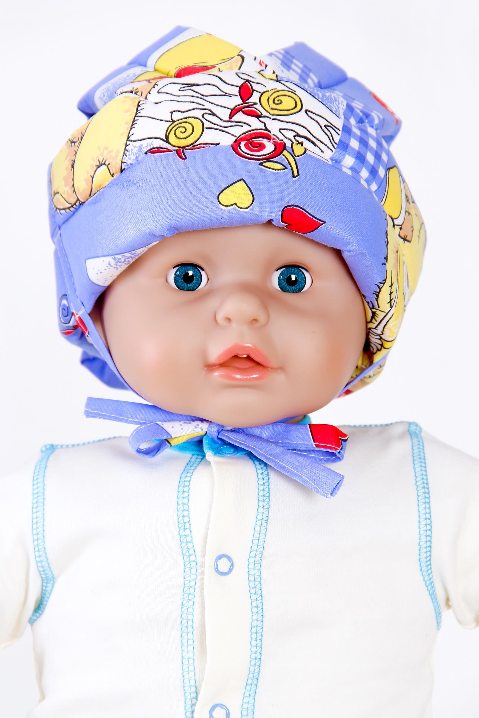 Противоударная шапка-шлем BabyBum №1 (цвет голубой)