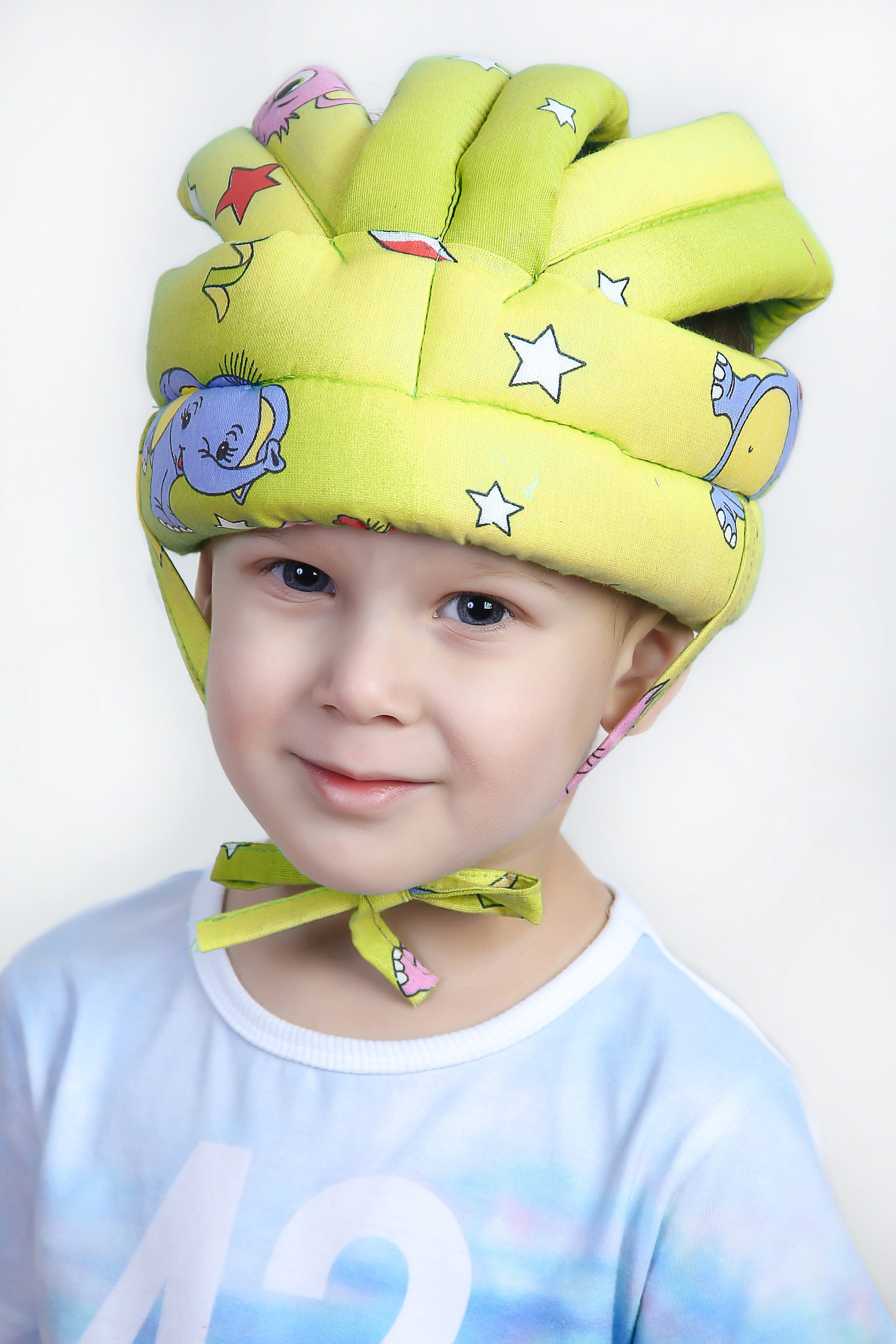 Противоударная шапка-шлем BabyBum №2 (желтая)