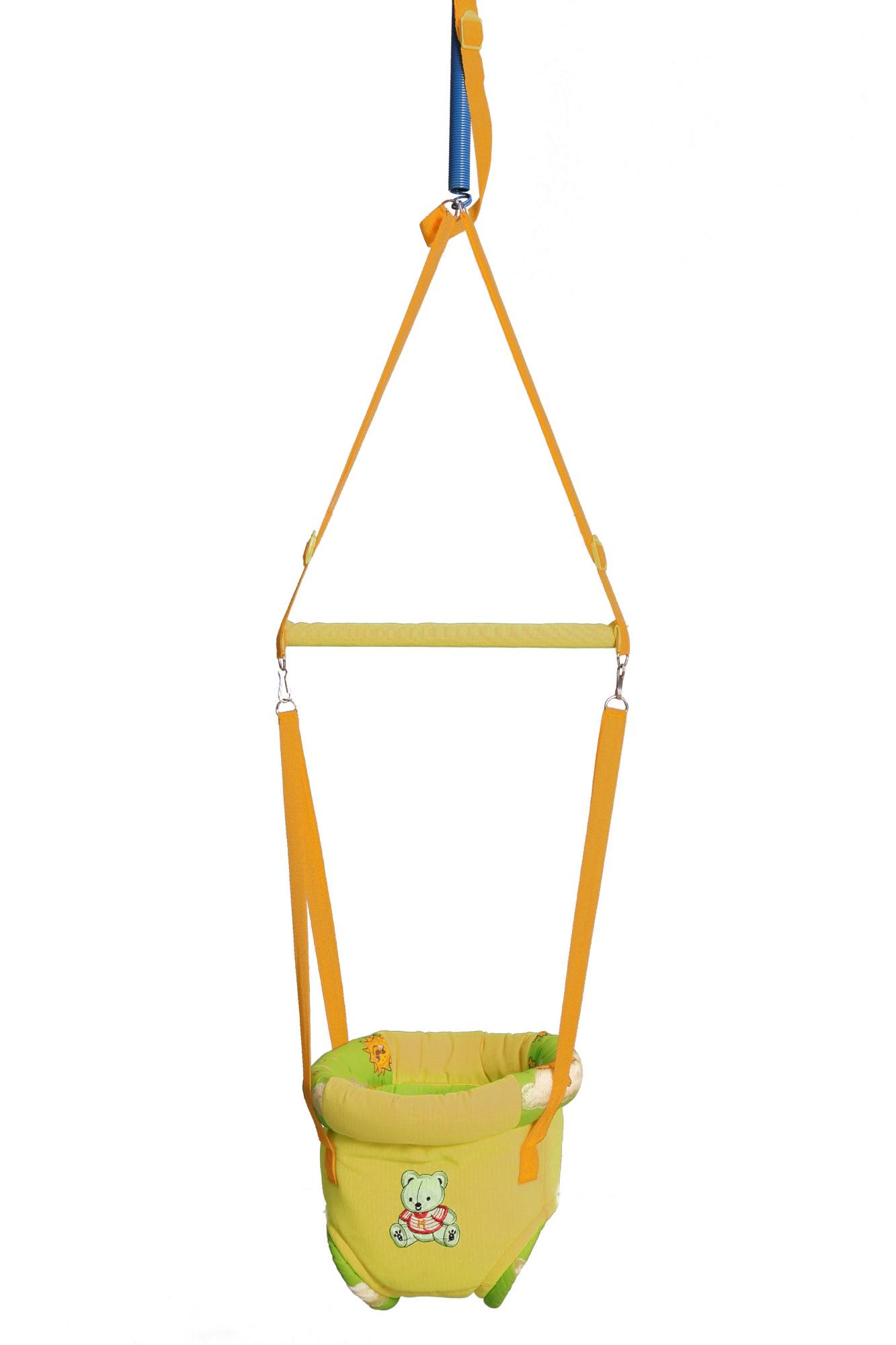 Прыгунки 3 в 1 №4 (прыгунки, качели, тарзанка), цвет желтый