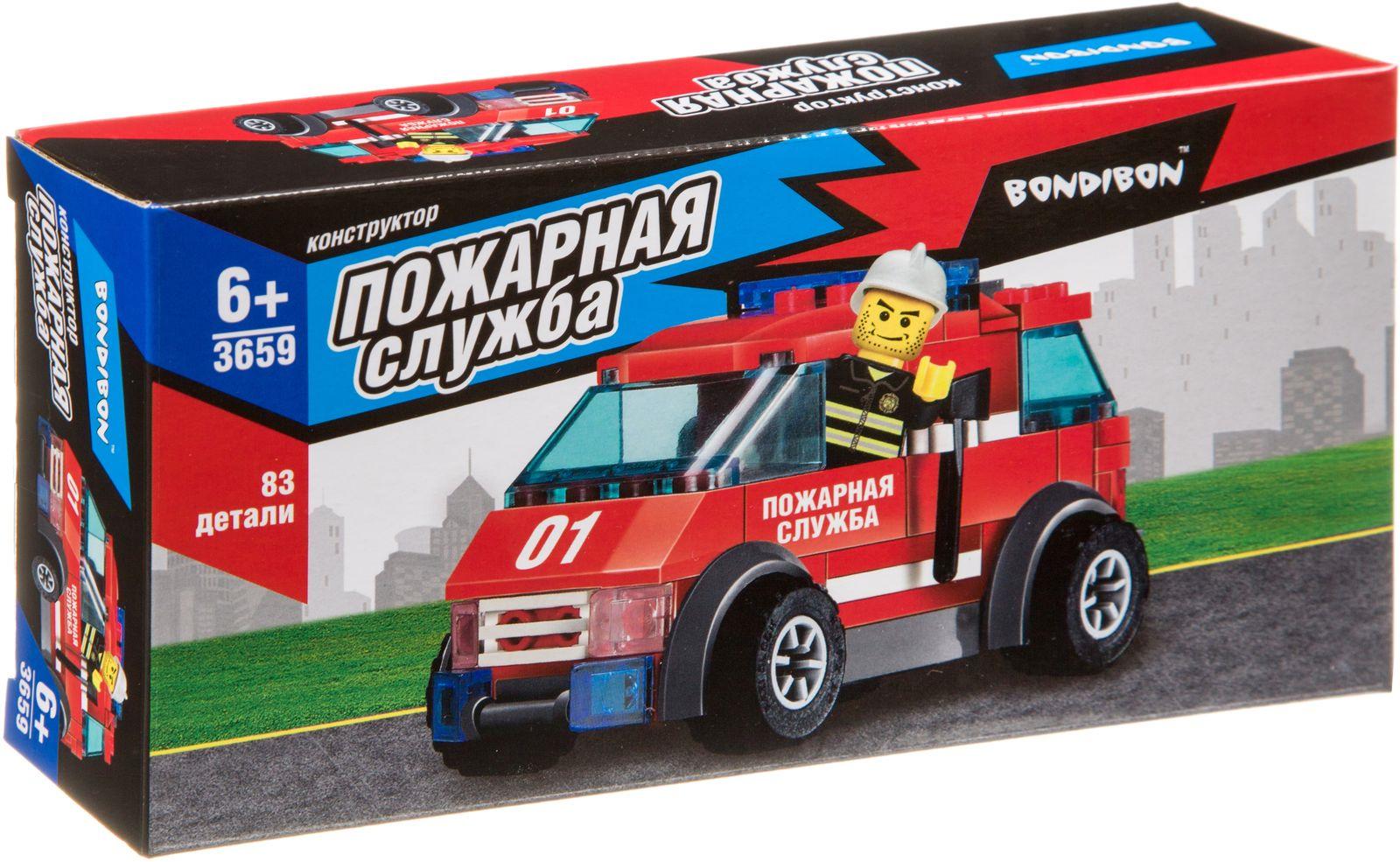 Пластиковый конструктор Bondibon Пожарная служба Машина