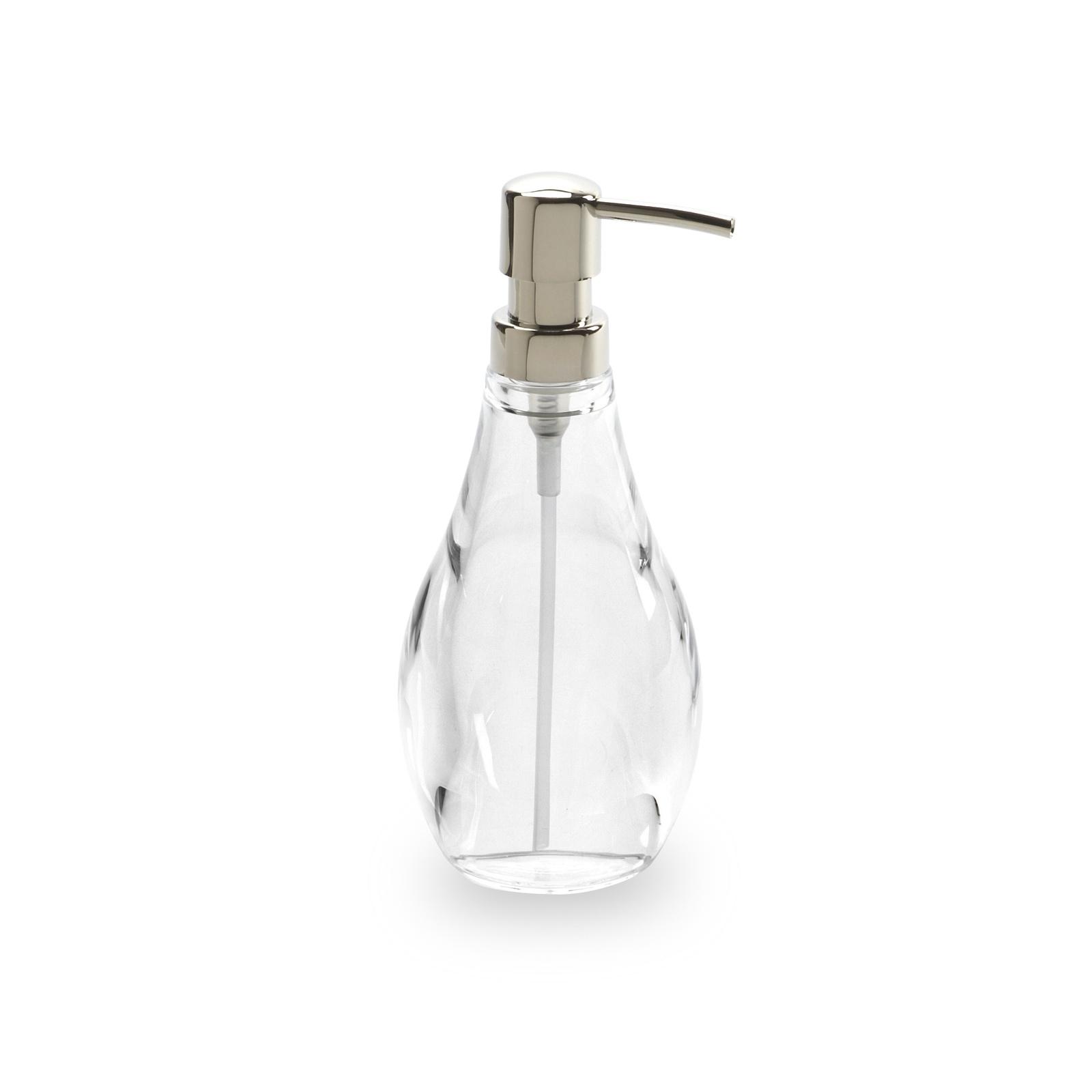 "Диспенсер для мыла Umbra ""Droplet"", цвет: прозрачный, 19 х 9 х 9 см"