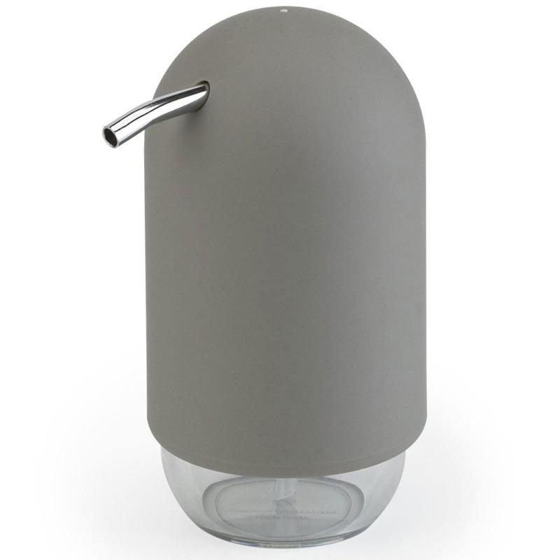 """Диспенсер для мыла Umbra """"Touch"""", цвет: серый, 14 х 7 х 7 см"""