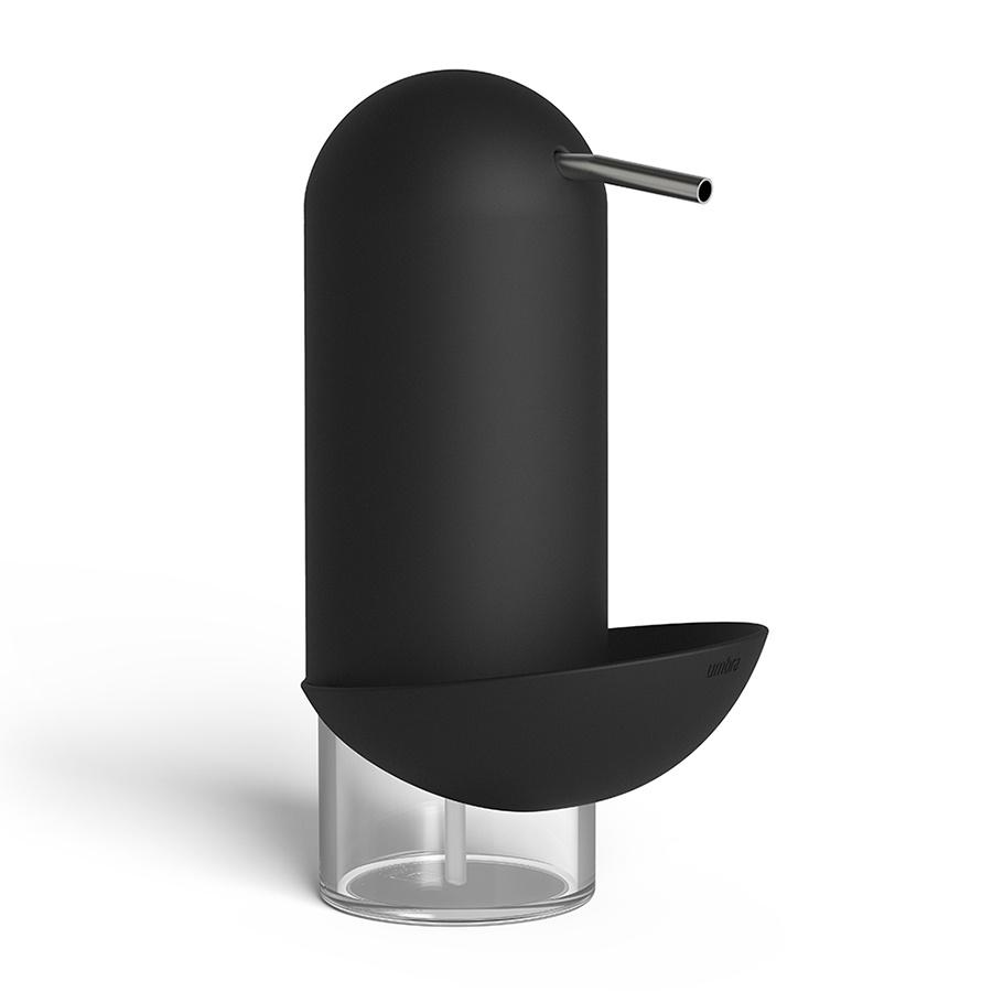 Диспенсер для мыла Umbra Penguin, 2 в 1, цвет: черный, 355 мл