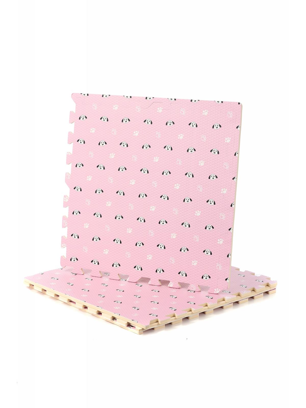 Коврик-пазл сборный 4 детали розовый с принтом R020-11 DOLEMIKKI