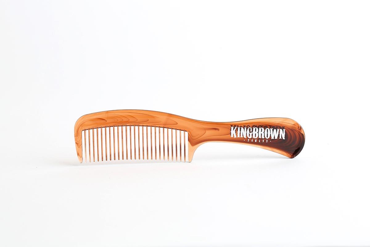 Классическая расческа с ручкой KingBrown Pomade панцирь черепахи