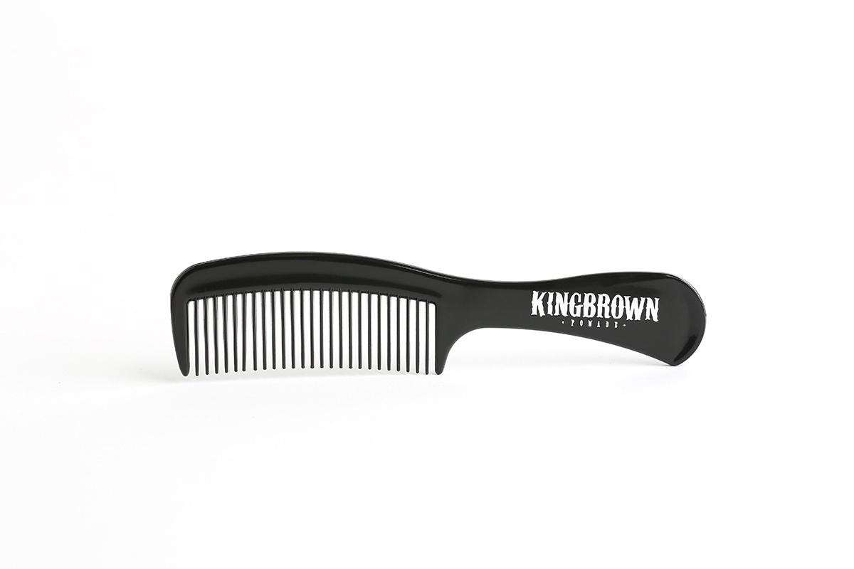 Классическая расческа с ручкой KingBrown Pomade черная