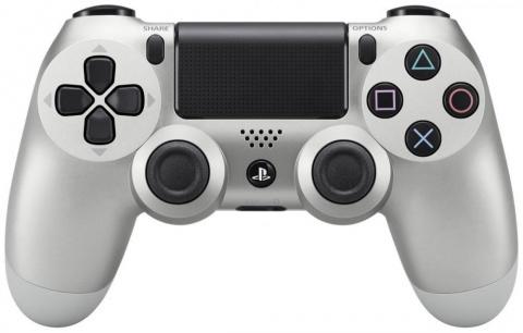 лучшая цена Геймпад Sony DualShock 4 Ver.2 (серебристый)