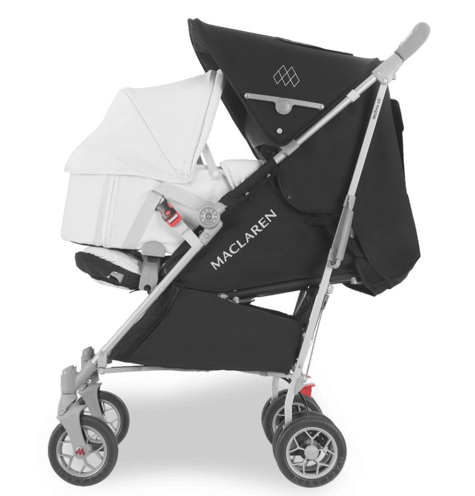 Maclaren люлька для коляски XLR CARRYCOT Silver/Silver 2 шт много maclaren yoya коляске аксессуары организатор для инвалидной коляски baby крючки коляск