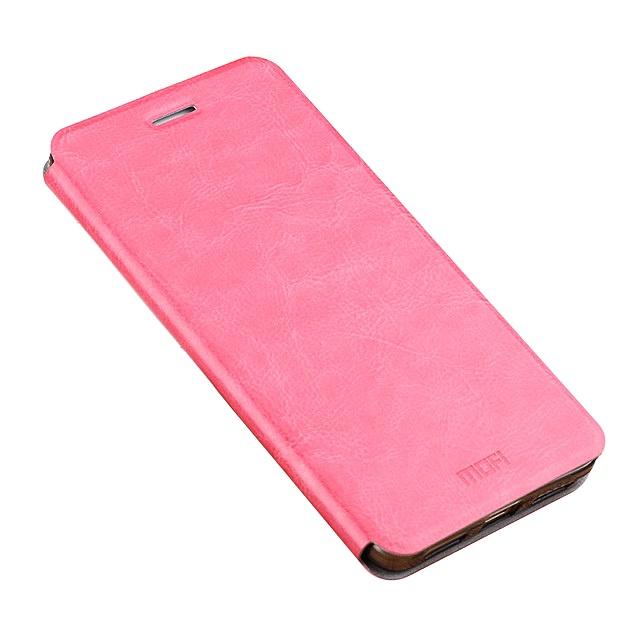 Чехол-книжка MyPads для Microsoft Lumia 435 на жёсткой металлической основе розовый