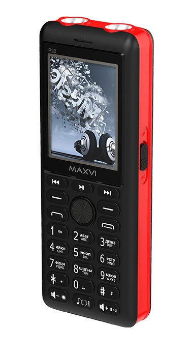 Мобильный телефон MAXVI P20 Black-red мобильный телефон maxvi c22 black red