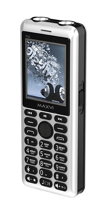 Мобильный телефон MAXVI P20 Silver-black