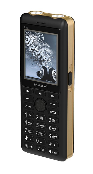 Мобильный телефон MAXVI P20 Black-gold