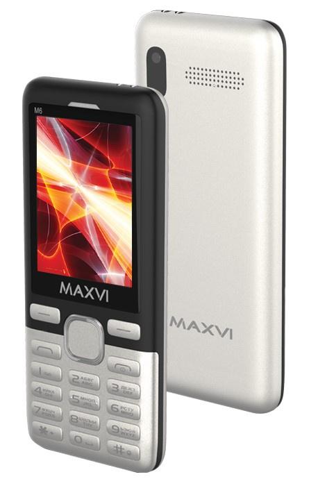 Мобильный телефон MAXVI M6 Silver