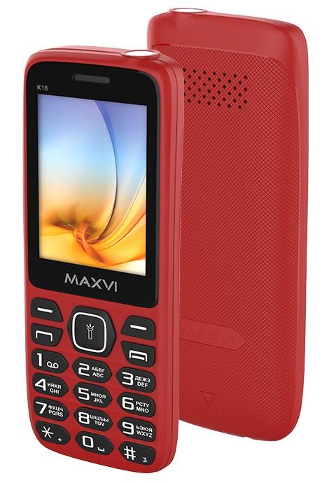 Мобильный телефон MAXVI K16 Red мобильный телефон maxvi c22 black red