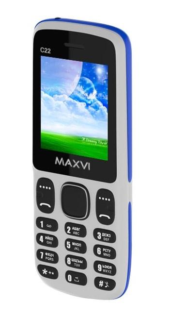 Мобильный телефон MAXVI C22 White-Blue