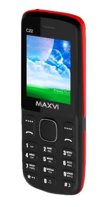 Мобильный телефон MAXVI C22 Black-red мобильный телефон maxvi c22 black red