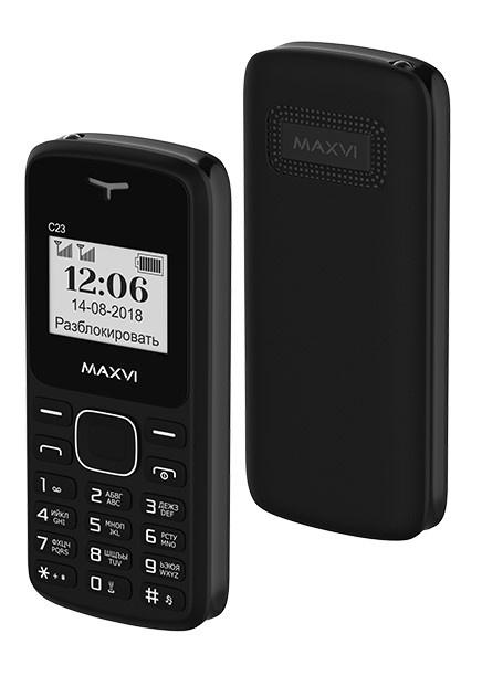 Мобильный телефон MAXVI C23 Black телефон