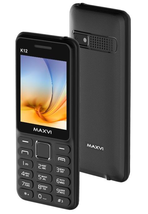 Мобильный телефон MAXVI K12 Black-black