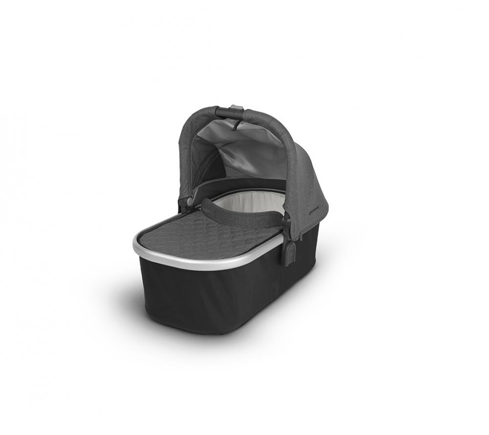 Uppababy Люлька для коляски Cruz и Vista 2018 JORDAN (black/grey malange) графитово-серый меланж uppababy vista cruz samantha