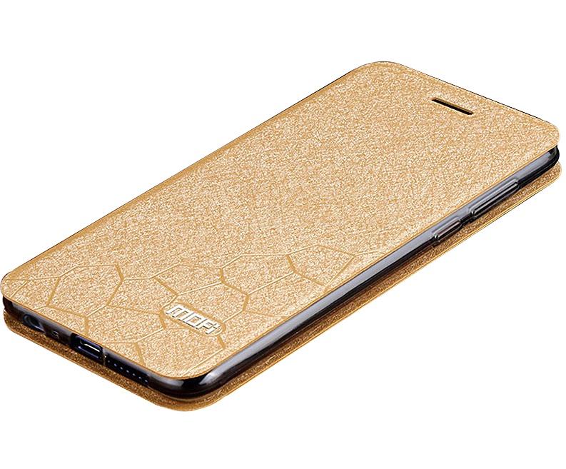 Чехол-книжка MyPads для Lenovo VIBE C2 (K10A40) на жёсткой металлической основе золотой чехол для lenovo vibe c2 k10a40 skinbox 4people case черный