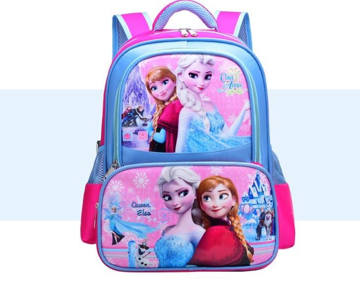Рюкзак детский-Frozen, Холодное Сердце, розовый с голубым