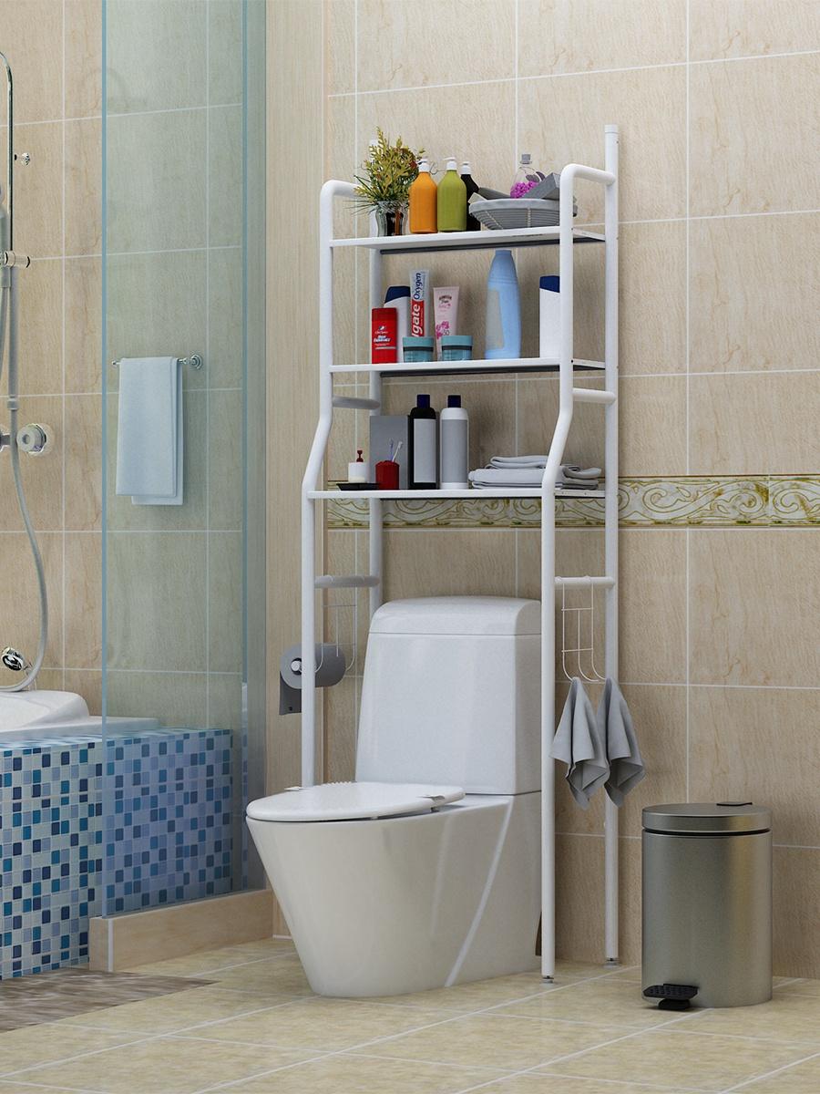 Guocai/ Полка напольная для туалета для туалета стойка напольная