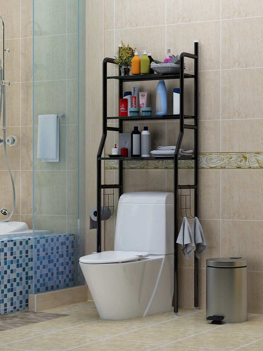 Guocai/ Полка напольная для туалета inlavka полка для цветов